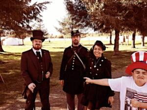 civil war costume cosplay family adventure time travel devine marie